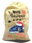 X-Large Cotton Drawcord Koolart Christmas Santa Sack Stocking Gift Bag & Sierra Sapphire RS Image